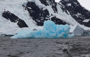 Look at how blue some icebergs are.